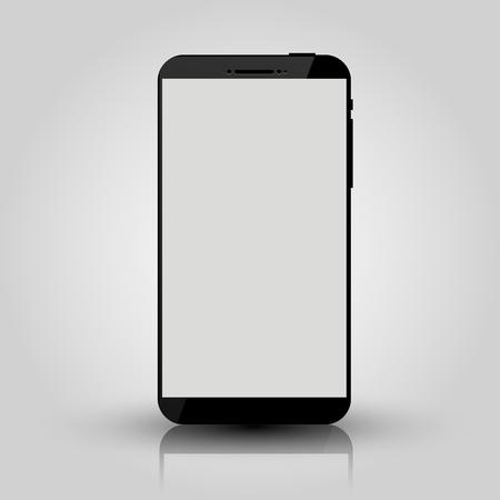 Illustration pour Black mobile smart phone mock up. Game design, smartphone mobile application presentation or portfolio mockups. Vector illustration - image libre de droit