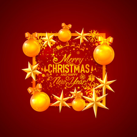 Illustration pour Merry Christmas and happy new year, vector background, design - image libre de droit