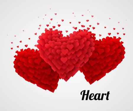 Photo pour Red Valentine Heart, Isolated On bright Background. Love concept. Vector Illustration - image libre de droit