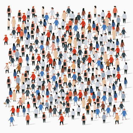 Illustration for Large group of people on white background. People communication concept. Vector illustration - Royalty Free Image