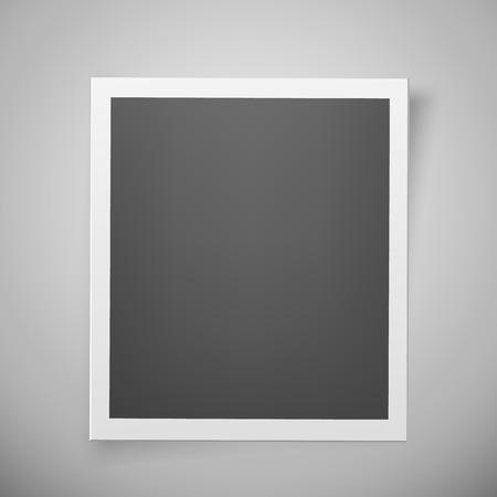 Illustration pour Realistic retro photo frame. Sweet memories concept. - image libre de droit
