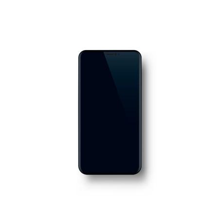 Illustration pour Phone with a black screen, object electronics. - image libre de droit