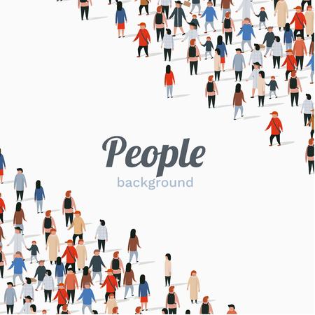 Illustration pour Large group of people on white background. People communication concept. Vector illustration - image libre de droit