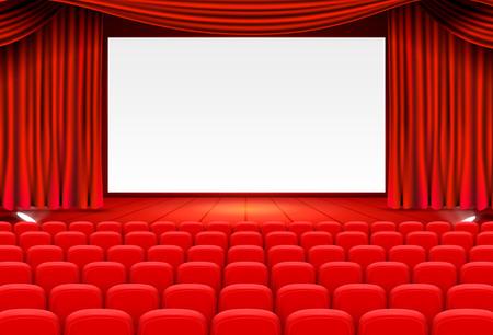 Illustration for Scene cinema background art, Performance on stage. - Royalty Free Image