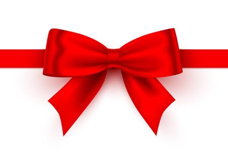 Illustration pour Bow red tape on the white background. Vector illustration - image libre de droit