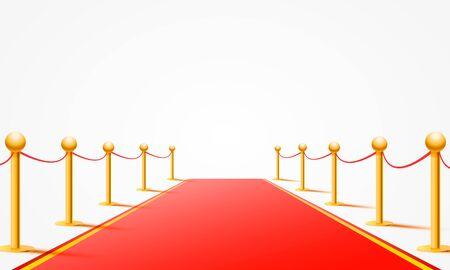 Illustration pour Red event carpet on the white background. Vector illustration - image libre de droit