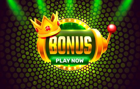 Illustration pour Bonus casino coin, cash machine play now. - image libre de droit