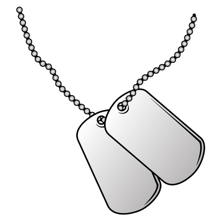 Ilustración de Military dog tags vector illustration. - Imagen libre de derechos