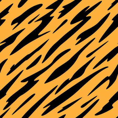 Abstract Black and Orange Stripes Seamless Repeating Pattern Vector Illustration