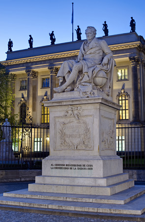 Statue of Alexander von Humboldt at Humboldt University, Berlin, Germany
