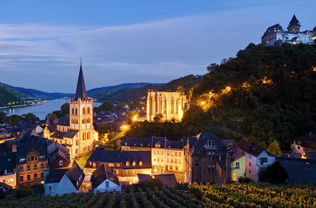 Bacharach at Rhine River, Rhineland-Palatinate, Germany
