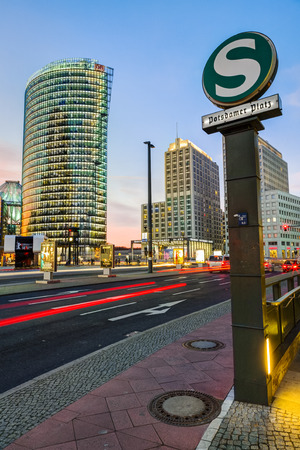 Bahntower at Potsdamer Platz Square, Berlin, Germany