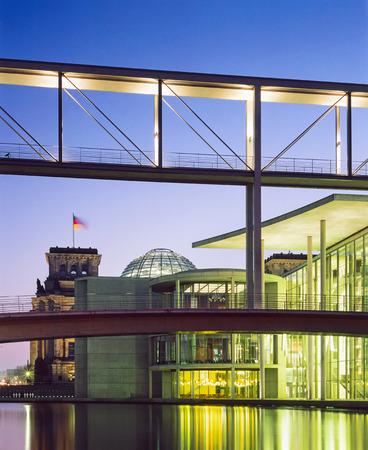 German Reichstag and Paul Loebe Building, Berlin, Germany