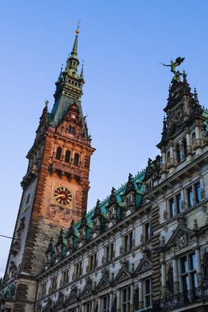 Hamburg town hall, Hamburg, Germany