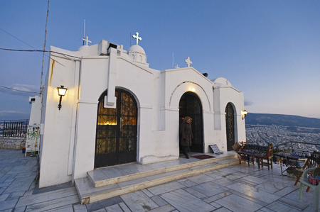 St. George's Chapel on Mount Lycabettus, Athens, Greece