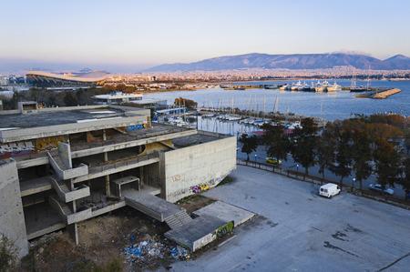 Derelict  structural work in Paleo Faliro, Athens, Greece