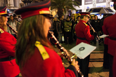 Concert at New Year's Eve, Omonia Square, Athens, Greece
