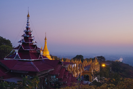 Sutaungpyei pagoda, Mandalay Hill, Mandalay, Myanmar, Asia