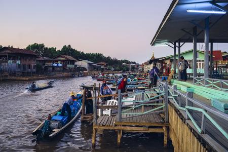 Jetty, Nyaung Shwe, Myanmar, Asia