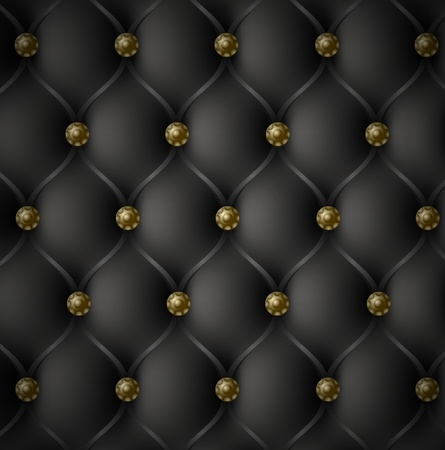 Illustration for Royal Black Leather Texture - Royalty Free Image