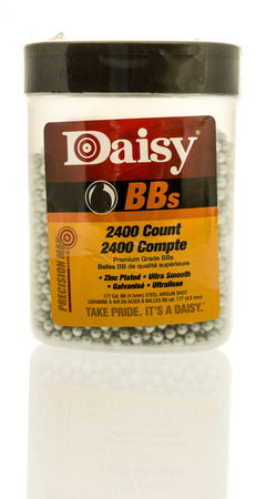 Winneconne, WI - 16 July 2017: A package of Daisy bbs on an isolated background.