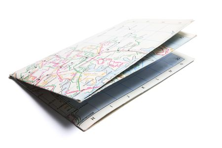 Foto de Street Map on Isolated White Background - Imagen libre de derechos