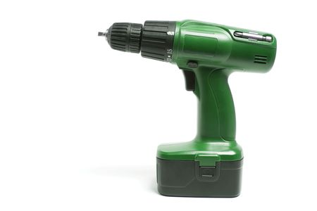 Electric Drill on Isolated White Background