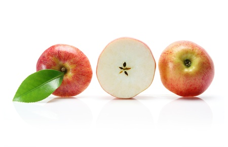 Slices of Gala Apple on white Background