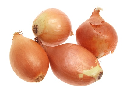 Onions on Isolated White Background