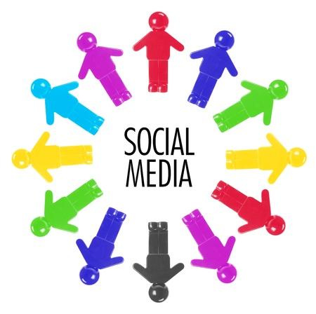Social Media Concept on White Background