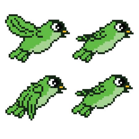 Illustration pour Pixel Flying Bird   - image libre de droit