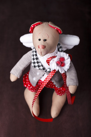 hand made teddy bear with wings