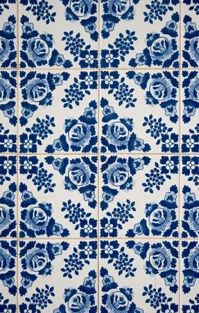 Traditional Portuguese azulejos, painted ceramic tilework.