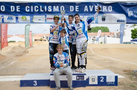 ESTARREJA, PORTUGAL - MAY 26: CBP, Trophy winner team at the 2nd Portugal Bmx Open on may 26, 2013 in Estarreja, Portugal.