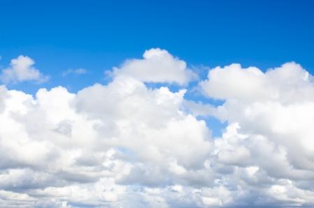 Beautiful fluffy white cloud