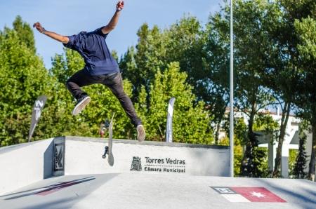 TORRES VEDRAS, PORTUGAL - SEPTEMBER 15  Ruben Rodrigues at 2nd Stage on DC Skate Challenge by Fuel TV on september 15, 2013 in Torres Vedras, Portugal