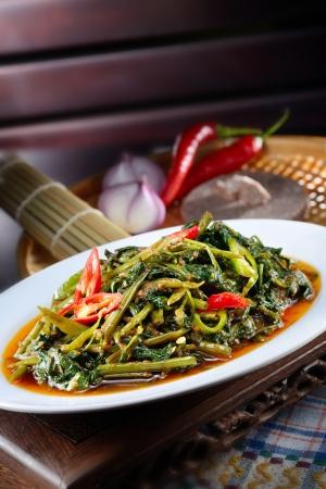Sambal chili kangkong malaysia style
