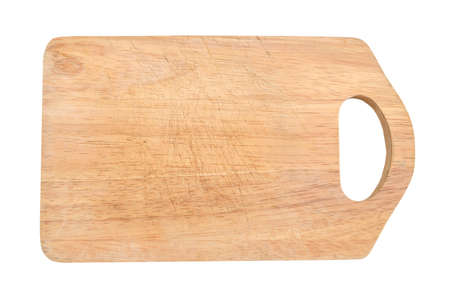 Photo for Wooden antiseptic cutting board isolated with clipping path on white background - Royalty Free Image