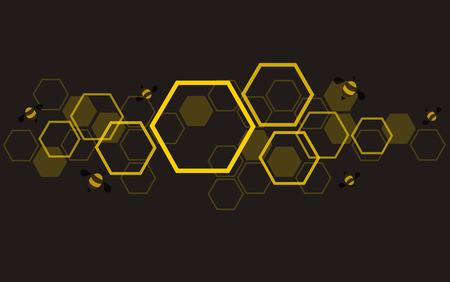Photo pour hexagon bee hive design background vector - image libre de droit
