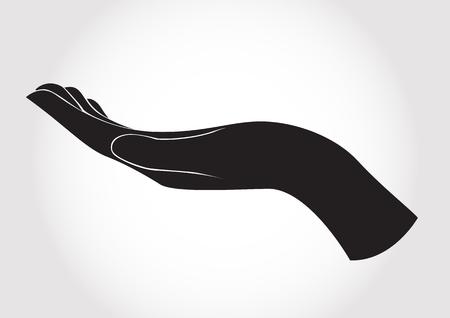 Ilustración de hand holding , hand present vector - Imagen libre de derechos