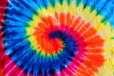 Photo for close up tie dye fabric pattern background - Royalty Free Image