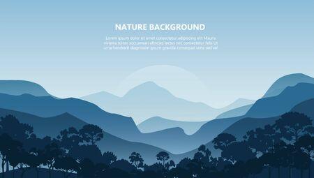 Illustration pour mountain landscape background vector illustration EPS10 - image libre de droit