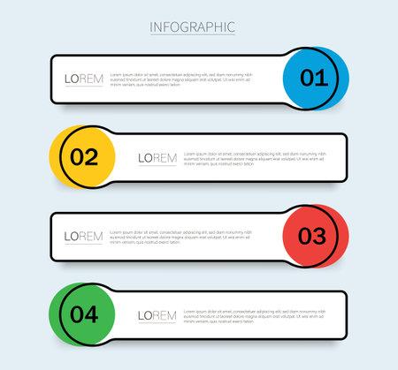 Illustration pour info graphic Vector template with 4 options - image libre de droit