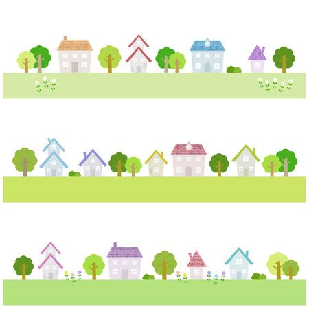 Illustration for Suburban houses - Royalty Free Image