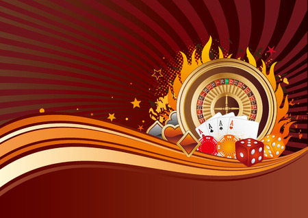 casino elements,gambling background