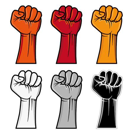 clenched fist emblem