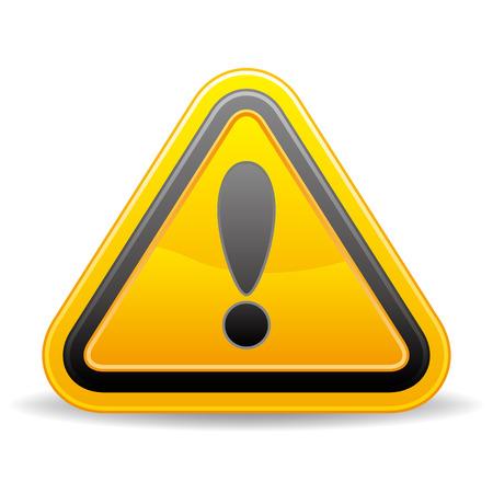 triangular warning sign on white background