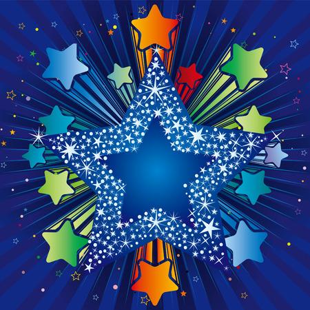 illustration of explosion star