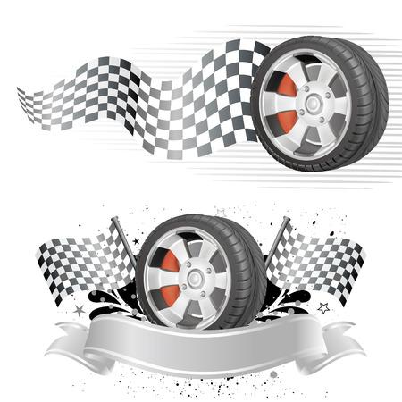 Illustration pour disign  element of automobile race - image libre de droit
