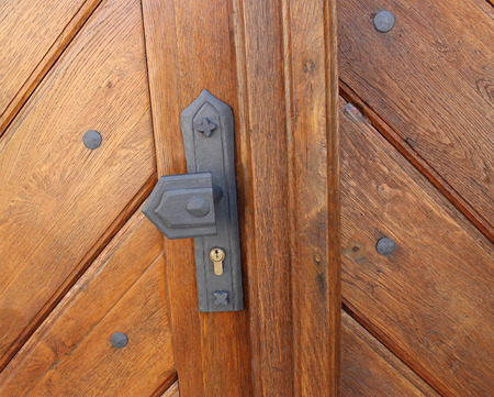 Historical clique of old wooden door